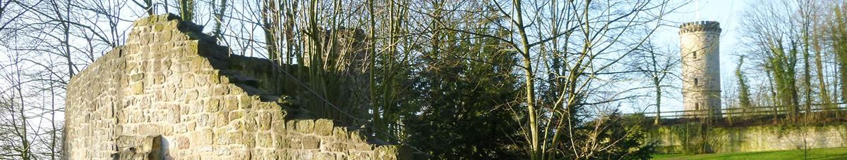 Foto historische Burgmauer Tecklenburg
